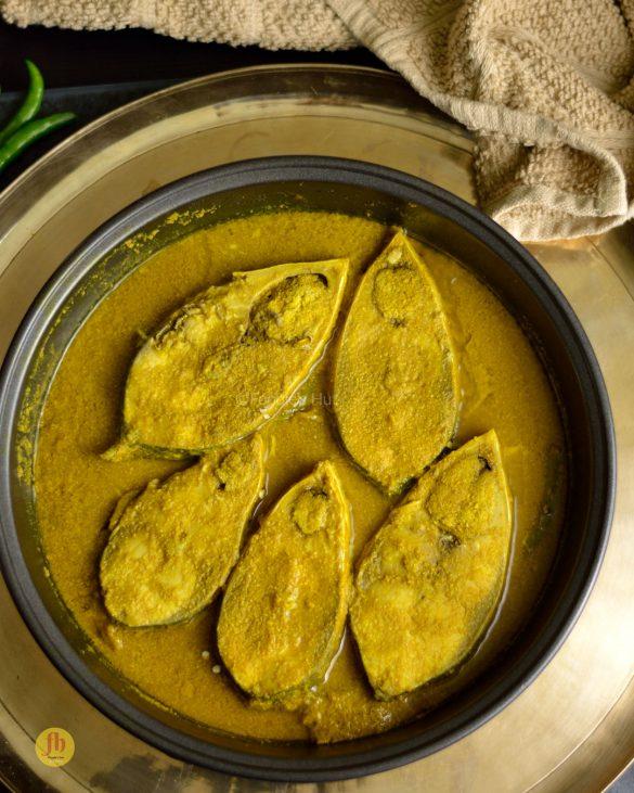 Ilish Bhapa Jeera bata diye by foodieshut