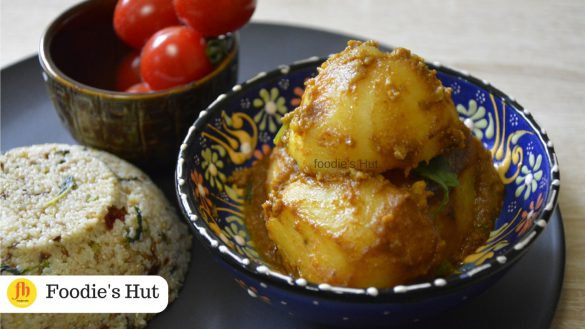 Bengali Niramish Aloor Dum recipe by Foodie's Hut