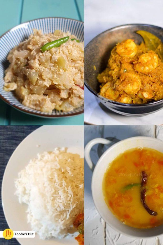 Chingri Machh Diye Mulor Ghonto in a meal